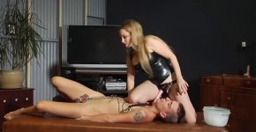 Horny Blonde Aiden Starr in amazing latex fetish adult movie, Closeupvagina