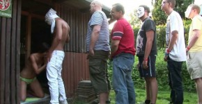 CzechGangBang a lot of girls and a lot of guys though sex, Orangepussy