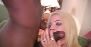 Blonde MILF fucks with a black man in different poses Creampie, lofesu