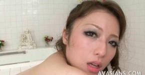 Busty japanese mom likes it deep in the bathroom, avasmarian