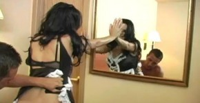 Gorgeous Brunette Veronica Rayne Maid For Anal, littlebooobs