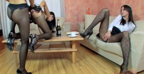 Sexy brunettes fucking each other dildo Agnes Noa Roxie Breakfast 065, mansonshow