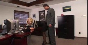 Busty blonde secretary masturbation in a closet at his boss and then he fucked her CumShot, heartall