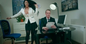 Brazzers - Horny Brunette Candi Kayne In Take Your Teen To Work Day, Brazzers