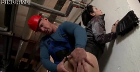 GoldenShowerPower Lady Dee bends and substitutes his pussy for the worker, socksbond