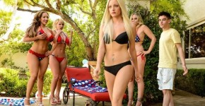 Brazzers - Cumming To America Julia Ann, Phoenix Marie And Richelle Ryan Raped A Young Male, PlayvidsOfficial