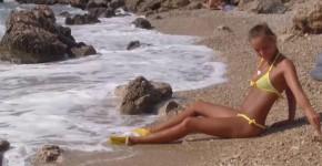Caramel S abby winters beautiful girl on the beach, goodnight