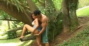 She Bends Over For A Good Drilling Outdoors, michpik
