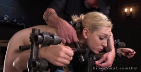 Ass and pussy and nipples tortured blonde sub, hundodesin