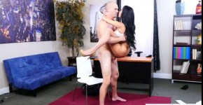 Victoria June Hot brunette with big breasts fucked Naughty Office, bigbigcat