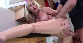 simone sonay Passionate fuck MILF blonde with big tits home in the kitchen , Brazzers