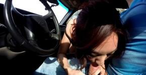 Mila Jade Beautiful girl sucks cock and fucks in the car, Hestollares