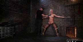Depraved Blonde Simone Sonay gets wrapped up and drilled, ballsmydad