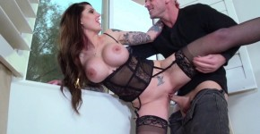 darling danika Passionate fuck a brunette with tattoos in the sisters house , Brazzers