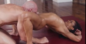 Kira Noir Delightful Ebony Oily Yoga Dirty Masseur, Tyler4