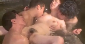 woman gets drunk and parties with 3 guys while husband sleeps at hot springs, lenavatime