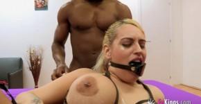 Candela X Interracial Sex Blonde tying and fucking, flashspelash