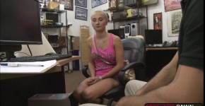 Blonde Sadie Leigh gives a bj and gets fucked on the desk, spuugje