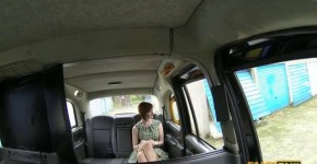 Redhead young girl with beautiful breasts cool fucked in a fake taxi Zara DuRose, blondesuck