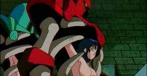 Busty hentai girls caught by monster robots, Grabber5