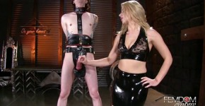 rubber chastity release with anikka albrite femdom empire, phonestory