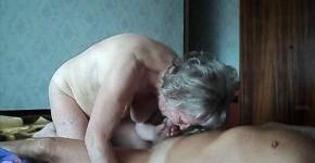 Grandma and Grandpa fuck fuck in bed in a doggy style pose, BLubirdsfux