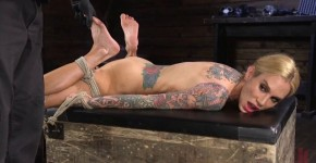 Sarah Jessie Hot Tattooed Big Busted MILF in Bondage Tormented and Made to Cum HogTied, istisedo