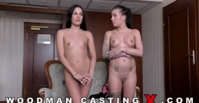WoodmanCastingX Dellai Twins Silvia and Eveline Dellai couples fucking on casting, cutelittlebabeme