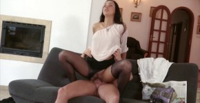 Victoria Sweet ripping her stockings, bazbraz