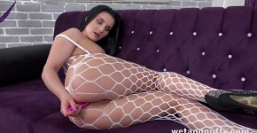 WetAndPuffy Lucia Denvile Lustful Lucia fucks himself with a big dildo, AngeeEx